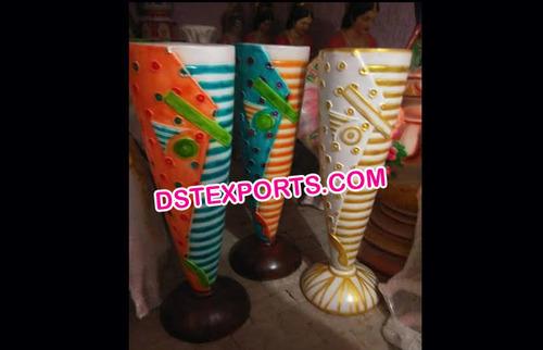 Colourful Wedding Fiber Pots
