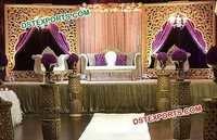 Golden Wedding  Flower Panel Stage