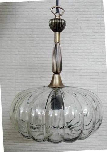 Glass & Brass Hanging Pendent Lights