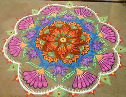 Flower Rangoli Color