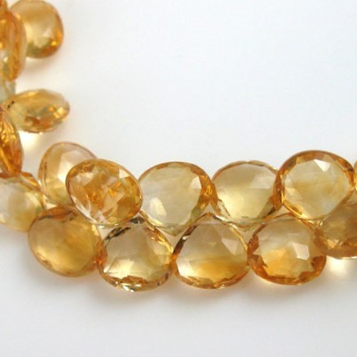Citrine Faceted Heart