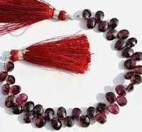 Garnet Cut Oval Beads