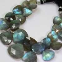 Labradorite Faceted Heart Shape