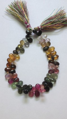Multi Tourmaline Faceted Pears