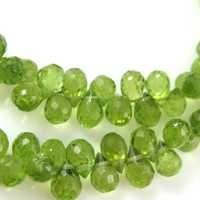 Peridot Faceted Teardrops
