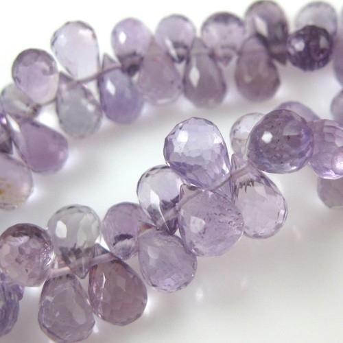 Pink Amethyst Faceted Drops