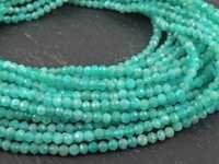 Amazonite Micro Faceted Beads