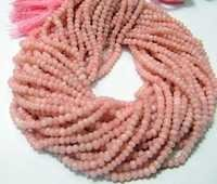 Pink Opal Micro Faceted Beads