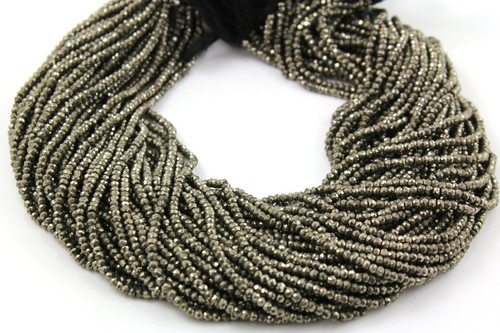 Pyrite Micro Faceted Beads