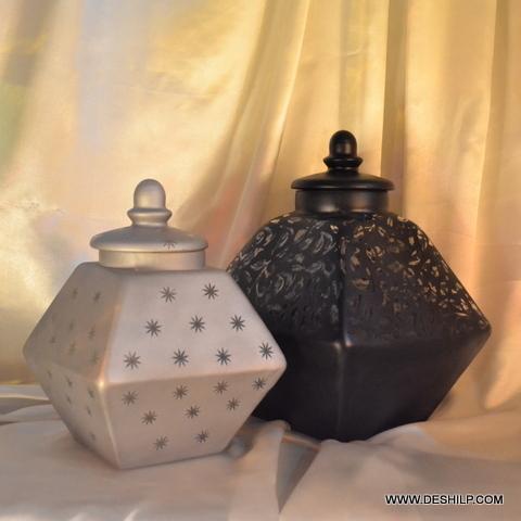 LASS JAR & CANISTERS,JAM JAR,SILVER JAR,PICKLE JAR,RECYCLED GLASS JAR
