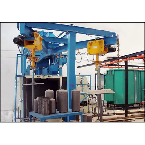 Y Hanger Type Shot Blasting Machine