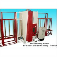 SS Sheet Cleaning Blasting Machine