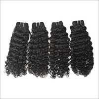 Machine Weft Natural Curly  Hair