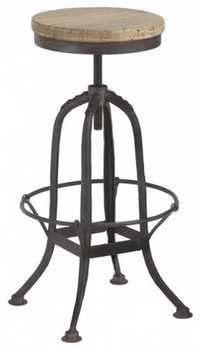 Wrought iron counter stool