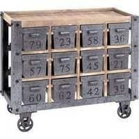 Portable storage cart with number drawer