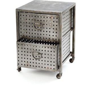 Industrial double drawer bin unit