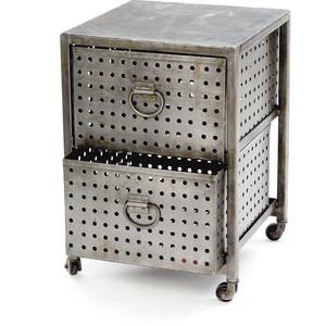 Industrial double drawer bin unit