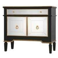 Black and gold wine cabinet