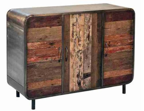 Industrial wood and metal buffet