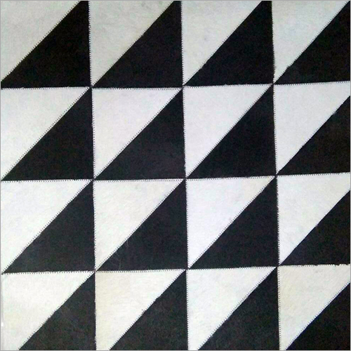 Black n White Print Leather Carpets