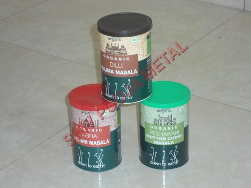 Spices tin container