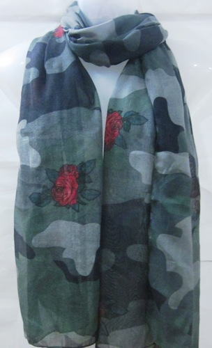 Ladies Fashion voile printed scarf