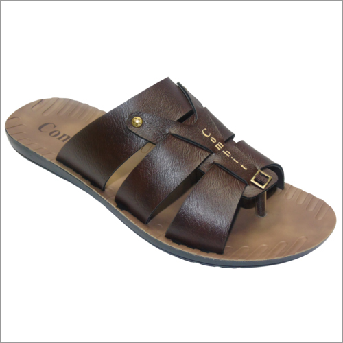Pu Mens Leather Slipper