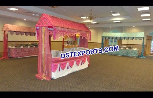 Decorated Wedding Food Stall Counter