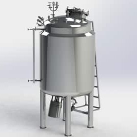 Tank With Bottom Entry Stirrer