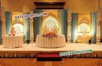 Golden Fiber Wedding Stage