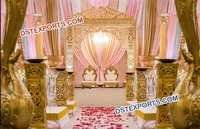 Heavy Fiber Carved Wedding Stage