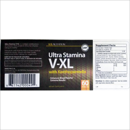 Ultra Stamina V-XL Supplements