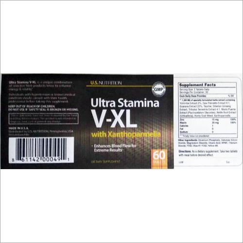 Ultra Stamina V-XL Supplements