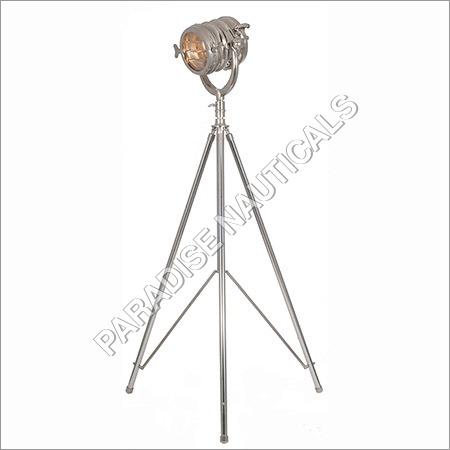 Ethnic Roots Nickel Sheesham Tripod Floor Lamp