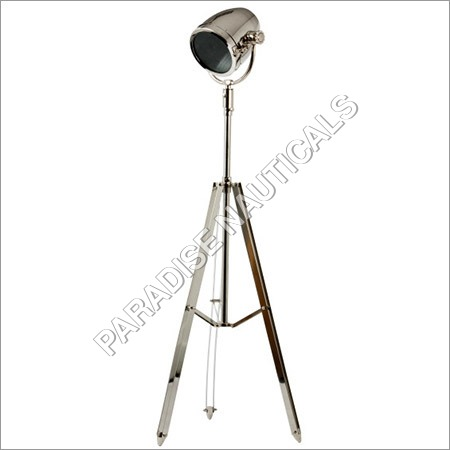 Ethnic Roots Nickel Sheesham Tripod Floor Lamp