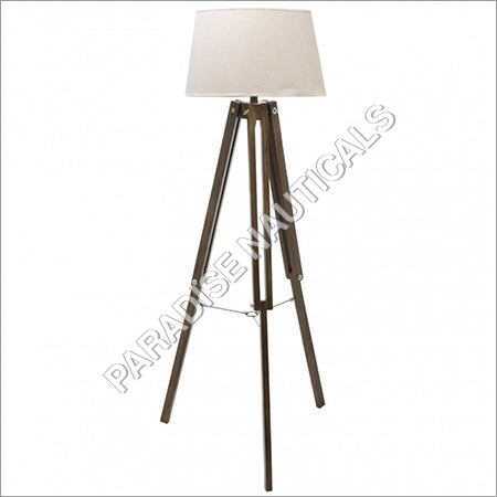 Wood Base Floor Lamp