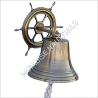Nautical Ship Wheel With Hanging Bell