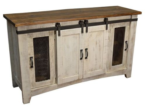 Reclaimed Wood Barn Door TV Stand