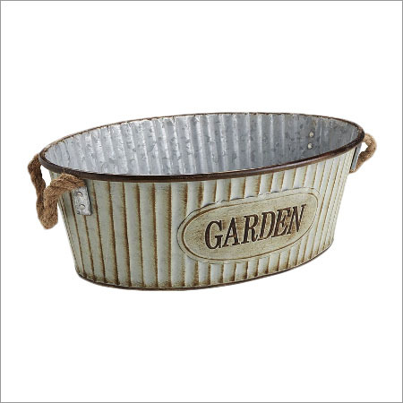 Galvanized Square Planter
