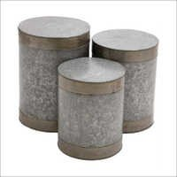 Galvanized Garden Stool