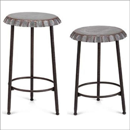 Galvanized  Stool Set
