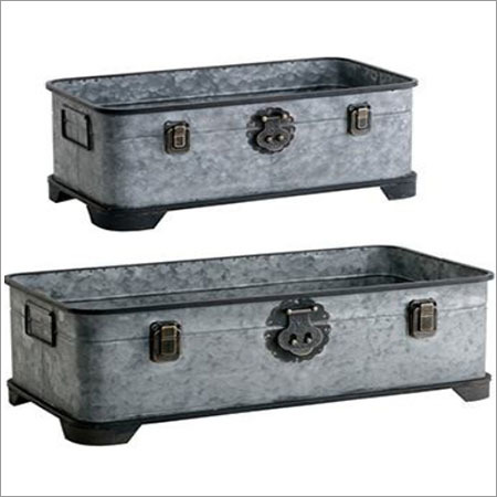 Galvanized Trunk Planter