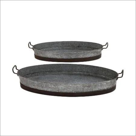 Galvanized Oval Tary Set