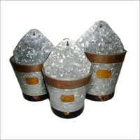 Galvanized Wall Planter 3 Set