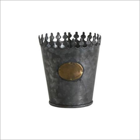Galvanized Crown Pot Set