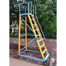FRP MOBILE TROLLEY STEP LADDER