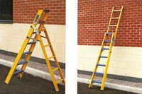 FRP STOOL CUM STRAIGHT CONVERTABLE LADDER