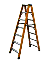 FRP DOUBLE STEP TRESTLE LADDER