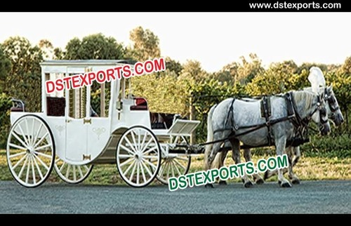 Covered Wedding Horse Carriages