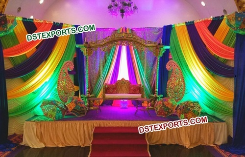 Decorated Mehandi Wedding Stage